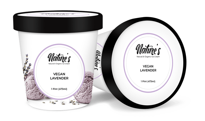 vegan lavender ice cream