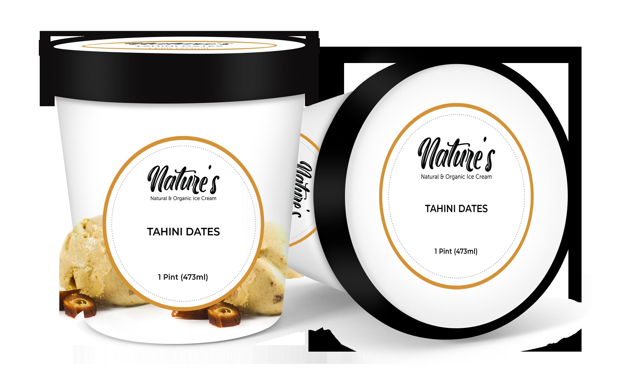 tahini dates ice cream