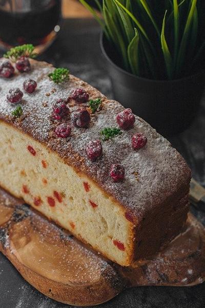 Glazed Cranberry-Apple Bread