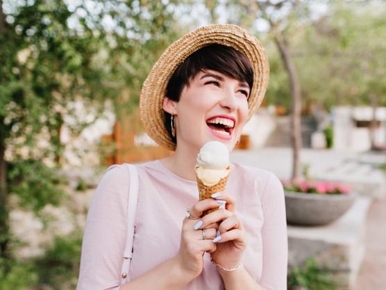 happy moment with Nature's Organic ice cream